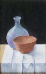 Pots on a White Cloth (click to enlarge)