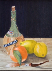 Still Life with Chianti Bottle (click to enlarge)